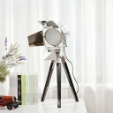 Indoor Tripod LED Table Lamp with Chrome Shade 26''H