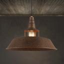 Vintage Industrial 14'' Wide Old Rust Indoor Pendant with Metal Shade