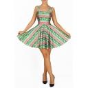 Fashion Christmas Deer Digital Printed Tank Dress Reversible Sleeveless Dress