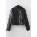 2016 New Arrival Cool Black Zip Up Motorcycle Jacket