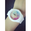 Fashion Cute Candy Color Silica Gel Strap Quartz Watch