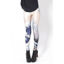 New Stylish Mid Waist Galaxy Print Pencil Leggings
