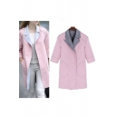 New Stylish Notched Lapel Open-Front 3/4 Sleeve Coat