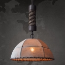 Industrial 1 Light LED Pendant with Marble Shade