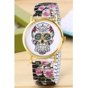 New Arrival Floral Skull Waterproof Quartz Bracelet Watch