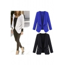 New Arrival Women's Fashion Zipper Detail Open Front Blazer