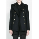 Fashion Notched Lapel Double Breasted Trench Coat