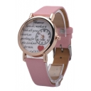 Fashion Women's Letter Print Proof Water Watch