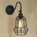 Bottle Cage Vintage Style 1-Lt Wall Light