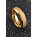 New Design Titanium Steel Circle Ring for Couple