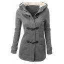 Women's Wool Blended Classic Pea Coat Jacket