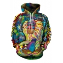 Popular Unisex Witch Graffiti 3D Print Hooded Long Sleeve Hoodie with One Pocket