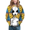 Unisex Alien Pizza 3D Print Hoodie with Long Sleeve