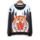 Fashion Geometric Animal 3D Print Pullover Sweatshirt