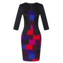 Women Wear to Work Business Party Bodycon One-Piece Dress