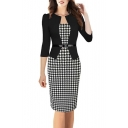 Women's Colorblock Wear to Work Business Party One-piece Dress