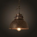 Indoor Single Light Hanging Lamp in Antique Rust Finish