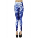 Women's Funky Digital Print Design Graphic Stretch Footless Fashion Leggings