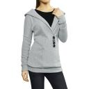 Woman Shawl Collar Hooded Sweater
