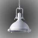 Vintage Style White Round Pendant Light