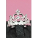 Chic Princess Crown Design Silver Ring