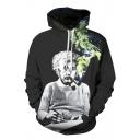 Unisex Popular Einstein Portray 3D Print Hooded Long SLeeve Hoodie