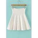 Fashion High Waist Knitted Mini Skater Skirt