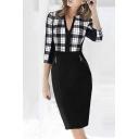 Women's Faux Leather Stitching Sleeveless Bodycon Dress