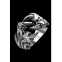 Fashion Claw Details Stainless Steel Ring for Men