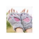 New Design Stylish Cute Warm Gloves with Cat Claw Details