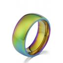 Titanium Steel Colorful Rainbow Design Stylish Ring