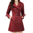 Women's Slim Double-breasted Trench Coats