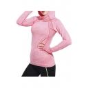 Leisure Hooded Geometric Cutout Long Sleeve Yoga Hoodie