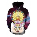 Unisex Hooded Cartoon Galaxy 3D Print Long Sleeve Hoodie