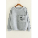 Stylish Letter Big Pocket Long Sleeve Pullover Sweater