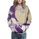 Fashion Hooded Wave 3D Print Long Sleeve Hoodie