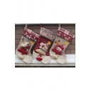 Lovely Christmas Theme Sock-Shape Candy Pocket