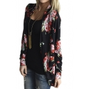 Women's Boho Irregular Long Sleeve Wrap Kimono Cardigans Coat Tops Outwear