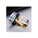 Fashion Unisex Cross Titanium Steel Ring