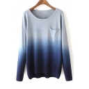 Women's Fashion Gradient Ramp Pullover Sweater