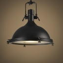 16'' Wide 1 Lt Industrial Black Bowl Metal Indoor Pendant