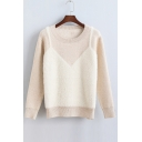 New Style Faux Two-piece Pullover Sweater