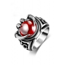 Exquisite Red Gemstone Embellished Latest Design Ring