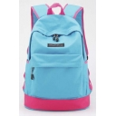 New Unisex Color Block Leisure Travel Backpack