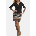 Women's Wear to Work V-neck Business Party Bodycon Dress