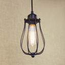 Simple Bulb Style Wire Guard Industrial Iron Pendant