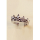 Stylish Crown Design Ring Studded with Diamond