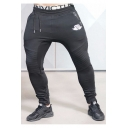 Popular Unisex Drawstring Waist Ruched Knee Jogger Pants