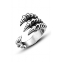 Unisex Fashion Titanium Steel Open Front Ring