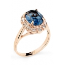 Fashion Crystal Ring with Round Faux Diamond